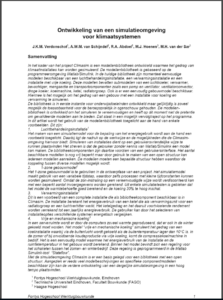 Ontwikkeling van een simulatieomgeving voor klimaatsystemen